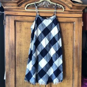 Universal Thread blue and Cream Plaid sundress